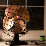 Vintage Industrial Kenmore Fan