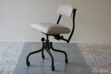 Vintage Cast Iron Chemist Chair