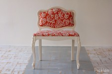 Coral Orange Slipper Chair