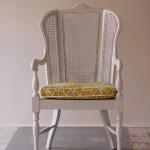 High Back Cane Arm Chair