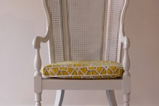 High Back Cane Arm Chair