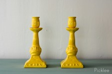 Yellow Fish Candle Sticks [pair]