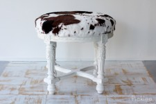 Antique Cow Print Stool