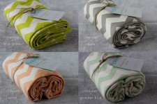 Organic Cotton Kids Blankets [Chevron Pattern]