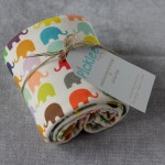 Organic Cotton Baby Blankets [Elephant Pattern]
