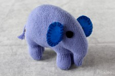 Handmade Blue Stuffed Elephant