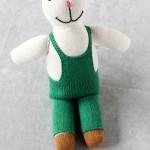 Handmade Green Stuffed Rabbit