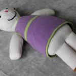 Handmade Stuffed Purple Rabbit