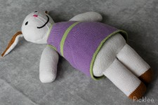 Handmade Stuffed Purple Rabbit