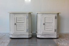 Distressed Shutter Front End Tables [pair]