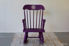"""Purple Yurple"" Children's Rocking Chair"