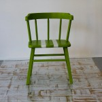 Farmhouse Lime Green Children's Chair