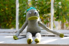 Meet Cicily, The Handmade Sock Monkey