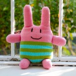 """Handmade Pink Stuffed """"Germ"""""""