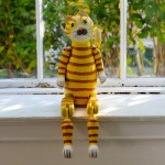 """Earl"" Vintage Wooden Cat"