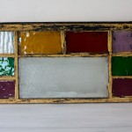 Antique Stained Glass Window [Red + Yellow + Purple Blocks]