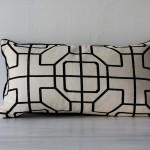 Handmade Black + White Geometric Pillow [rectangle]