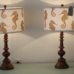 Whimsical Bronze Seahorse Lamp