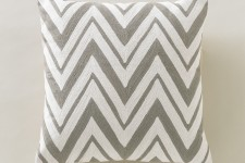Chevron Ash Pillow by Dwell Studio