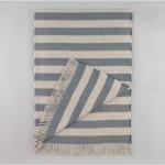 Draper Stripe Chinois Blue Throw by Dwell Studio