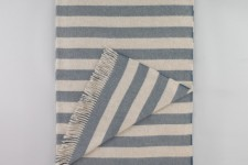 Draper Stripe Chinois Blue Throw by Dwell Studio