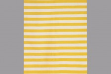 Draper Stripe Citrine/Cream Rug 5X8 by Dwell Studio