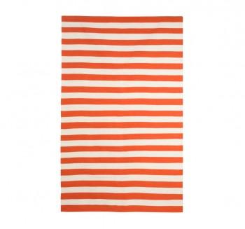 draper-stripe-persimmon-rug-dwell