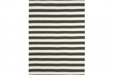 Draper Stripe Rug Ink / Cream 5×8 by Dwell Studio