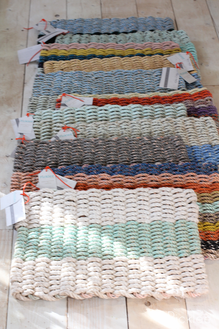 Handmade Recycled Float Rope Door Mats Picklee On Spring