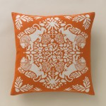 Lion Tangerine Pillow by Dwel Studio