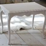 Farm White Accent Table