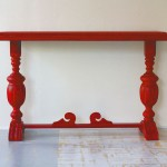 Ellsworth Red Console Table