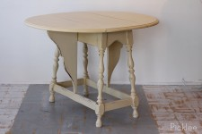 Almond Butter Drop Leaf Side Table