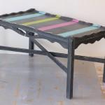 Retro Striped Coffee Table