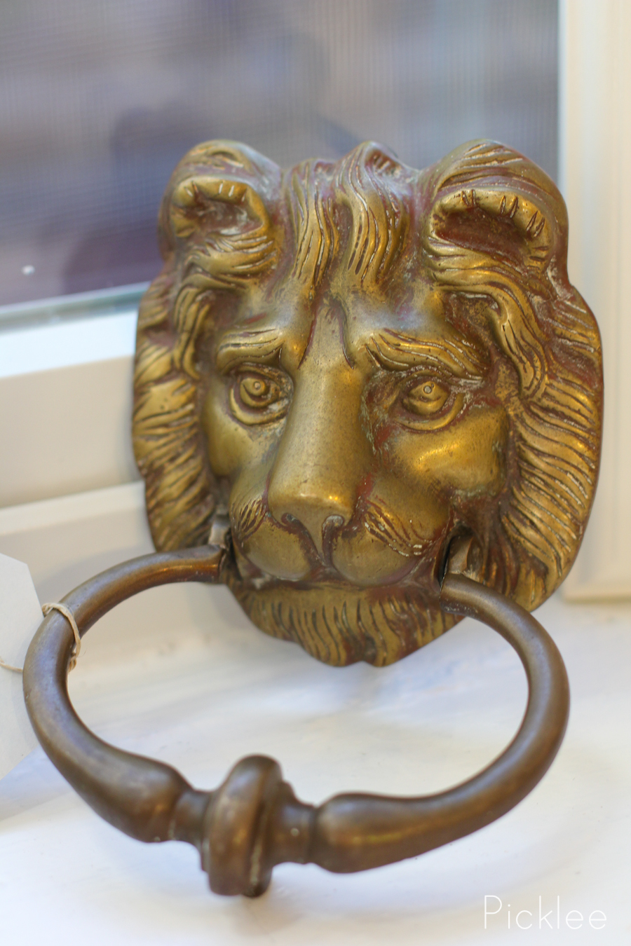 Brass Lion Head Door Knocker Vintage - Brass Lion Head Door Knocker - Picklee On Spring