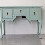 Antique Queen Anne Music Console Table