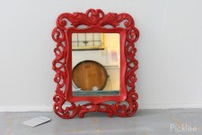 Red + Gold Baroque Mirror [small]