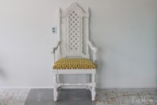 Vintage Mustard Gate Queen's Chair