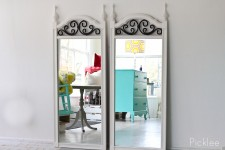 Vintage White + Iron Estate Mirror