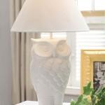 White Owl Lamp