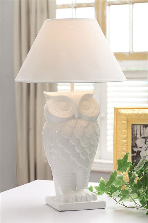 White owl lamp picklee on spring white owl lamp aloadofball Choice Image