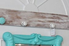 Reclaimed Drawer Front Coat Rack