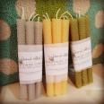 Hand Rolled Natural Bees Wax Candles [pack of 5 tapers]