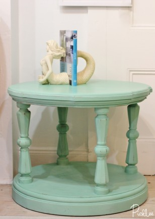 chalk paint-robins egg- table