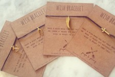 Handmade Linen 'Wish' Bracelet by Props & Primp