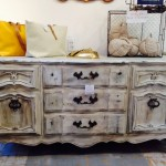 Antiqued Rose Island Buffet