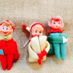 Hand Made Elf Ornaments