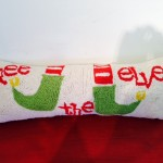 Hand Stitched Elf Hook Pillow