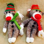 Sock Monkey Hand Made Ornaments