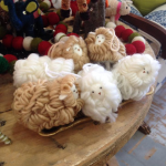 Handmade Wool Sheep Ornament